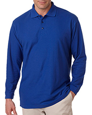 UltraClub 8542 Men Long Sleeve Whisper Pique Polo at GotApparel