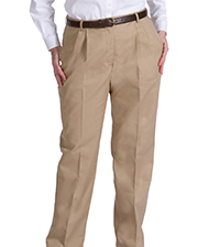 Edwards 8619 Women s Back Pocket Wrinkle Reistant Pleated Pant at GotApparel