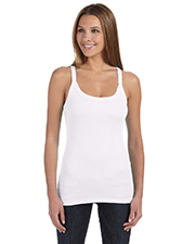 Bella + Canvas 8711 Women Ladies' Sheer Mini Rib Thin Strap Tank