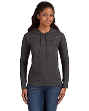 Anvil 887L Ladies' Ringspun Long-Sleeve Hooded T-Shirt at GotApparel