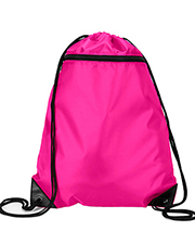 UltraClub 8888     Zippered Drawstring Backpack  at GotApparel