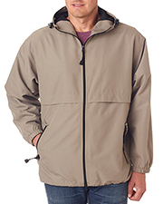 UltraClub 8908 Men Microfiber FullZip Hooded Jacket