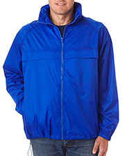 UltraClub 8929  Adult Hooded Zip-Front Pack-Away Jacket at GotApparel