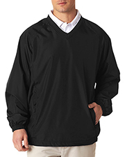 UltraClub 8937 Men MicroPoly V-Neck wind shirt at GotApparel