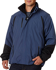 UltraClub 8939 Men Color Block 3in1 Systems Hooded Jacket at GotApparel