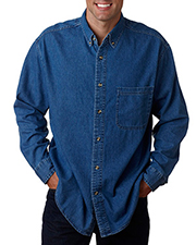 UltraClub 8960T Men Tall Cypress Denim with Pocket