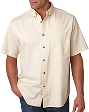 UltraClub 8965 Men C  Adult Cypress Colors ShortSleeve Woven with Pocket