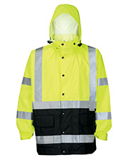 Tri-Mountain 8980TM  8980 Adult Industry-3-In-1 System Waterproof Safety Parka. Ansi Class 3 at GotApparel