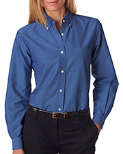 UltraClub 8990 Women Ladies' Classic WrinkleFree LongSleeve Oxford