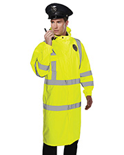 Tri-Mountain 9930 Men's 100% Polyester Safety Raincoat w/ Hood. at GotApparel