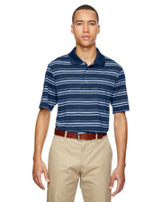Adidas A123 Adult puremotion Textured Stripe Polo at GotApparel