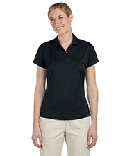 Adidas A162 Women's climalite® Textured Short-Sleeve Polo at GotApparel
