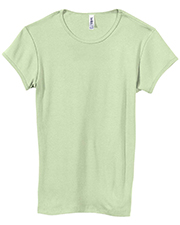 Bella + Canvas 1001 Women Stretch Rib Short-Sleeve T-Shirt