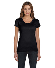 Bella B1003  Ladies Rib Scoop-Neck T at GotApparel
