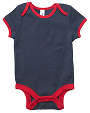 Bella B102  Infants Short-Sleeve Contrast Two-Tone One-Piece at GotApparel