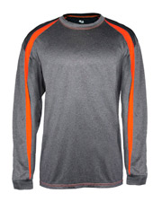 Badger B4350 Men Fusion Long Sleeve Tee at GotApparel