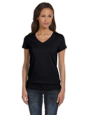 Bella + Canvas B6005 Women Jersey ShortSleeve VNeck TShirt