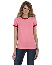 Bella + Canvas B6050 Women Jersey ShortSleeve Ringer TShirt