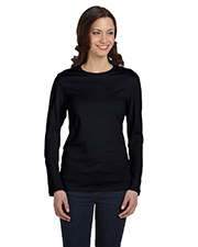Bella B6500  Ladies Crew-Neck L/S T at GotApparel