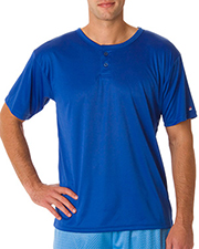 Badger B7930  Adult B-Dry Core Henley Tee at GotApparel