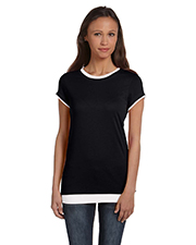 Bella + Canvas B8102 Women Sheer Jersey ShortSleeve 2in1 TShirt
