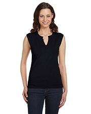 Bella B820  Ladies V-Neck Slit T at GotApparel