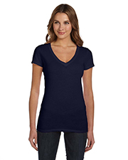 Bella + Canvas B8417 Women Tissue Jersey short sleeve Deep VNeck TShirt at GotApparel