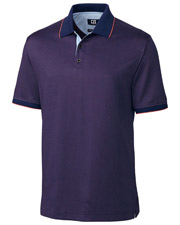 Cutter & Buck BCK00920 Men    Nano DryTec Luxe Braden Jacquard Polo Shirt at GotApparel