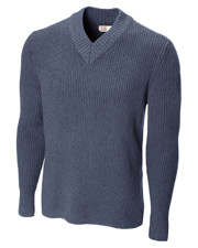 Cutter & Buck BDS00017 Men Blanchard Rib V-Neck Sweater at GotApparel