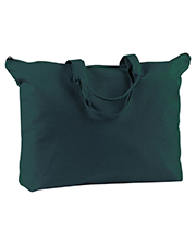 Big Accessories / BAGedge BE009 BAGedge Canvas Zippered Book Tote at GotApparel