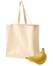 Big Accessories / BAGedge BE055 Unisex 6 oz. Canvas Grocery Tote