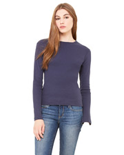 Bella + Canvas B5001 Women Stretch Rib LongSleeve T-Shirt
