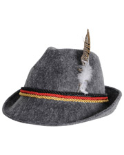 Halloween Costumes BG60243 German Oktoberfest Alpine Hat Grey One Size at GotApparel
