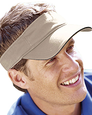 Big Accessories / BAGedge BT3V  Unisex Washed Twill Sandwich Visor at GotApparel