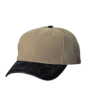 Port Authority ®  Two-Tone Brushed Twill Cap with Suede Visor