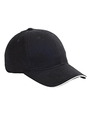 Big Accessories / BAGedge BX004   Unisex 6Panel Twill Sandwich Baseball Cap at GotApparel