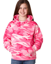 Code V C2969  2969 Girls Cf Youth Camo Hoodie at GotApparel
