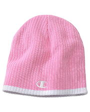 Champion C6183  Striped Knit Beanie at GotApparel