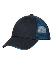 Port Authority C818 ® Double Mesh Snapback Sandwich Bill Cap.  at GotApparel