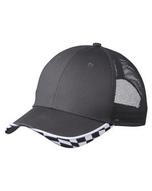 Port Authority C903 Men Checkered Racing Mesh Back Cap at GotApparel