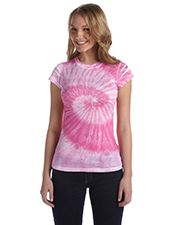 Tie-Dye CD1455 Women's 100% Spun Polyester with Moisture Management T-Shirt at GotApparel