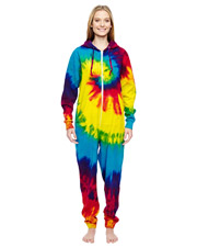 Tie-Dye CD892 All-In-One Loungewear at GotApparel