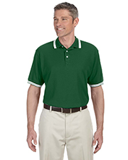 Mens Tipped Performance Plus Pique Polo