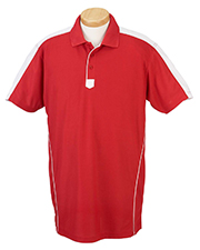 Chestnut Hill CH355 Mens Piped Technical Performance Polo at GotApparel