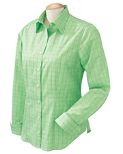 Chestnut Hill CH510W  Ladies Glen Plaid Shirt at GotApparel