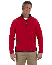 Chestnut Hill CH970 Men Polartec Colorblock QuarterZip Pullover