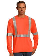 CornerStone CS401LS ® ANSI 107 Class 2 Long Sleeve Safety T-Shirt.  at GotApparel