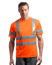 CornerStone CS408 COMING SOO ® - ANSI Class 3 Short Sleeve Snag-Resistant Reflective T-Shirt.  at GotApparel