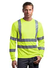 CornerStone CS409 NEW ® - ANSI Class 3 Long Sleeve Snag-Resistant Reflective T-Shirt.  at GotApparel