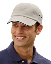 Adams CT102 6-Panel Low-Profile Ultra Heavyweight Brushed Twill Sandwich Cap at GotApparel